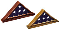 Memorial Flag Display Case - Walnut and Dark Cherry Finishes Available