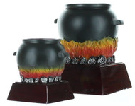 Chili Pot Color Resin Trophy | Black Cauldron Award - 4 and 6 Inch Tall Cauldron Award