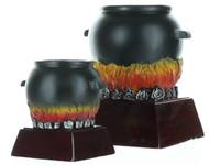 Chili Pot Color Resin Trophy | Black Cauldron Award - 4 and 6 Inch Tall Cauldron Award