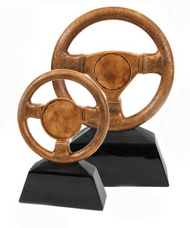 Steering Wheel Trophy | Engraved Racing Award - 7 & 10 Inch Tall
