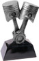 Piston / Mechanic Award - Antique Silver | Engraved Mechanic Trophy - 7 & 11 Inch Tall