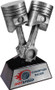 Mechanic Award - Antique Silver | Engraved Mechanic Trophy - 7 & 11 Inch Tall
