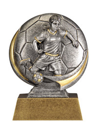 Female Soccer Motion Extreme 3D Trophy