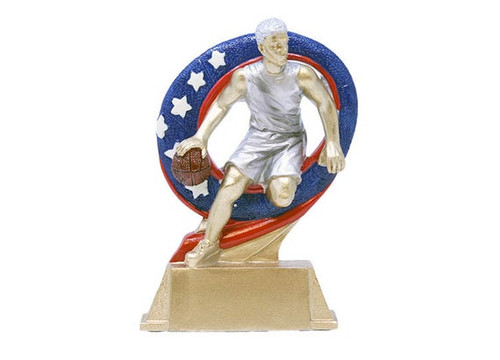 Male Basketball Superstar Trophy