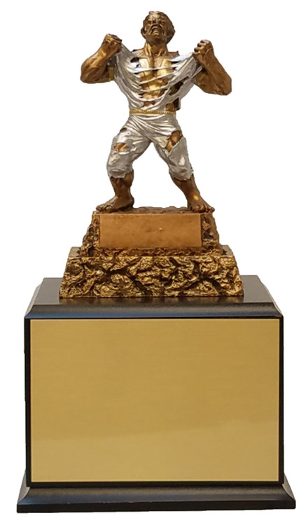 Monster Victory Perpetual Trophy   Engraved Triumphant Beast Champion Perpetual Trophy - 13 Inch Tall