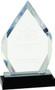 Diamond Impress Acrylic Award   Acrylic Rhombus Corporate Award - 8 Inch Tall - SIlver