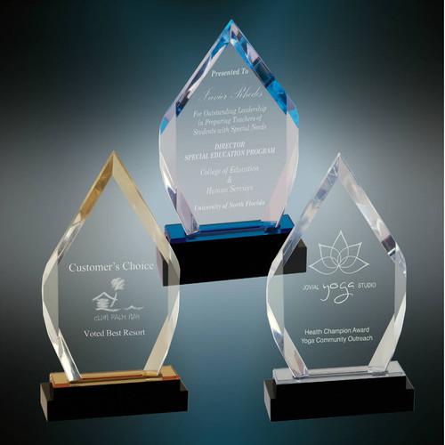 Diamond Impress Acrylic Award   Acrylic Rhombus Corporate Award - 8 Inch Tall