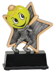 "Softball Award | Little Pals Slow Pitch Trophy - 5"" CLEARANCE"