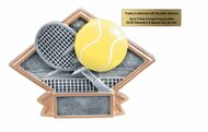 "Tennis Diamond Trophy - 6"" x 4.5"" - CLEARANCE"