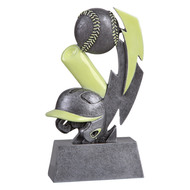 Baseball Glow In the Dark Trophy | Engraved Glow in the Dark Baseball Award - 6 Inch Tall