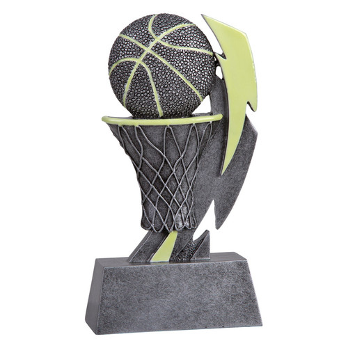 Basketball Glow In the Dark Trophy   Engraved Glow in the Dark Basketball Award - 6 Inch Tall