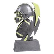 "Football Glow In the Dark Trophy | Engraved Glow in the Dark Football Award - 6"""