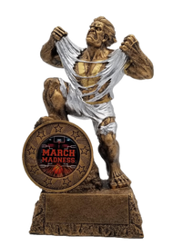 Basketball March Madness LARGE Monster Trophy | Engraved Basketball Bracket Giant Beast March Madness Award - 10 Inch Tall