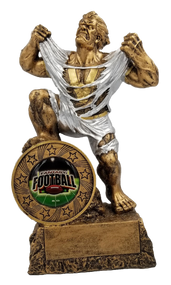 Fantasy Football League LARGE Monster Trophy | Engraved FFL GIANT Beast Award - 10 Inch Tall