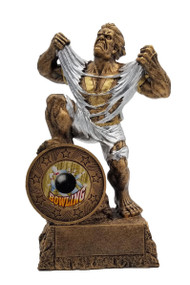 Bowling LARGE Monster Trophy | Engraved Bowler GIANT Beast Award - 10 Inch Tall