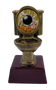 Bowling Gold Toilet Bowl Trophy  | Golden Throne Last Place Bowler Award - 6 Inch Tall