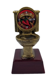 Chili Cook-Off Gold Toilet Bowl Trophy  | Golden Throne Chili Award - 6 Inch Tall