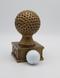 Golf Action Pedestal Trophy | Engraved Gold Golf Tournament Award - 6.5 Inch Tall