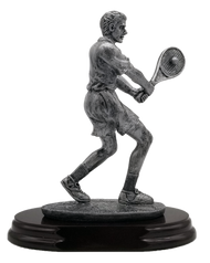 Tennis Player Trophy - Male | Engraved Tennis Player Award - 8 Inch Tall CLEARANCE