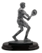 Tennis Player Trophy - Male   Engraved Tennis Player Award - 8 Inch Tall CLEARANCE
