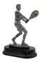 Tennis Player Trophy - Male | Engraved Tennis Player Award - 9 Inch Tall CLEARANCE