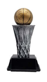 Basketball World Class Trophy | Engraved Basketball Tower Award - 6 and 8 Inch Tall