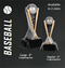 Baseball World Class Trophy | Engraved Baseball Tower Award - 6 and 8 Inch Tall