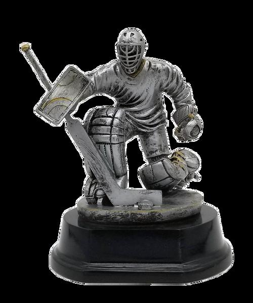 Hockey Goalie Trophy   Engraved Goaltender Award - 6 Inch Tall
