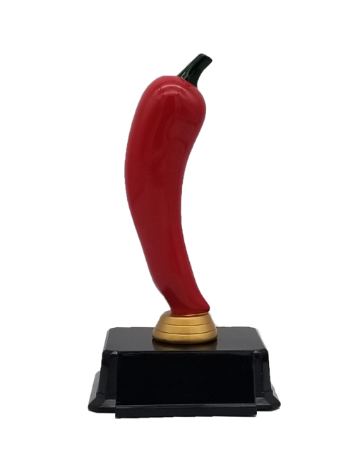 Red Chili Pepper Trophy | Engraved Chili Pepper Award - 7 Inch Tall