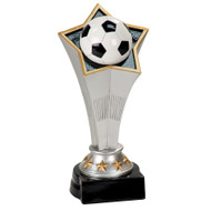 Soccer Rising Star Trophy | Engraved Star Fútbol Award - 8.75 Inch Tall - Clearance