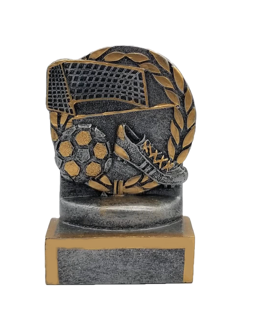 Soccer Wreath Trophy | Engraved Soccer Award - 4.5 Inch Tall - CLEARANCE