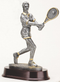 Tennis Player Trophy - Female | Engraved Tennis Player Award - 10 Inch Tall CLEARANCE