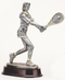 Tennis Player Trophy - Female | Engraved Tennis Player Award - 11 Inch Tall CLEARANCE