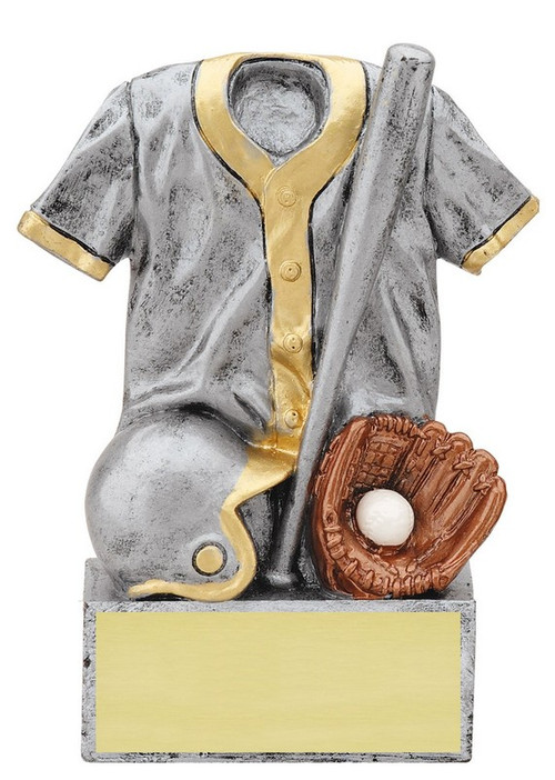 Baseball Jersey Trophy | Engraved Baseball Award - 4.5 Inch Tall - CLEARANCE