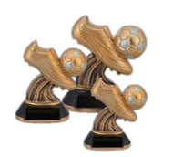 Soccer Golden Cleat Trophy | Engraved Fútbol Award - 6, 7 & 8 Inch Tall