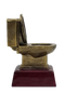 Cornhole Gold Toilet Bowl Trophy | Golden Throne Last Place Cornhole Award - 6 Inch Tall