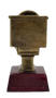 Disc Golf Gold Toilet Bowl Trophy | Golden Throne Last Place Discgolf Award - 6 Inch Tall