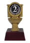 """Gold Toilet Bowl 2nd Place Trophy 