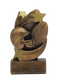 Football Star Swirl Trophy | Engraved Football Award - 5.25 Inch Tall