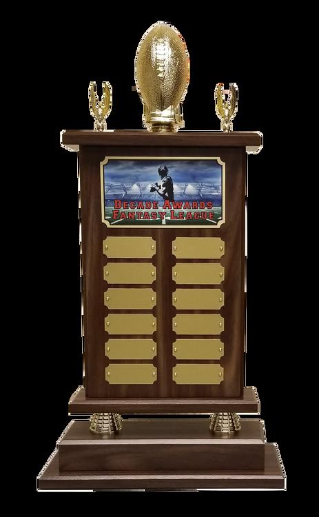 Fantasy Football Champion Perpetual Trophy | Engraved Football Perpetual Award - 22 Inch Tall