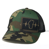 Camo / Mesh (Black/Tan Patch) Rounded Bill