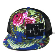 Hawaiian Multi Color / Black Mesh (Black/White Patch)