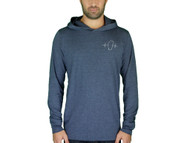 Lightweight Heather Navy Hooded Long Sleeve