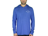 Lightweight Blue Hooded Long Sleeve