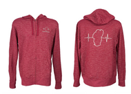 Red Marled Zip Up Hoodie - Unisex