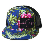 Hawaiian Multi Color / Black Mesh (Black/Pink Patch)