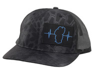Reptile Black / Black Mesh (Black/Blue Patch)
