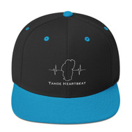 Black / Teal Embroidered Snapback Hat