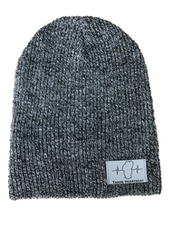 Black/pepper Gray Marled Beanie