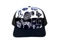 Colorable Coyote Hat / Sued Back